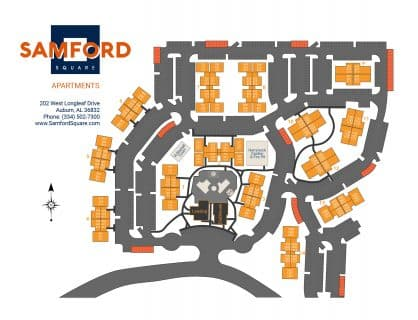 Samford Square Apartments Site Map